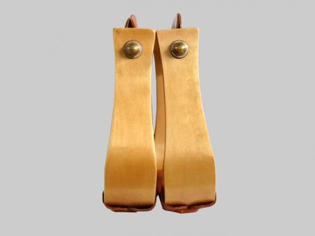 Stirrups, Wooden    TAN  TREAD